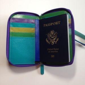 Handbags - ⬇️EUC RFID Genuine Leather Wallet Wrist Passport